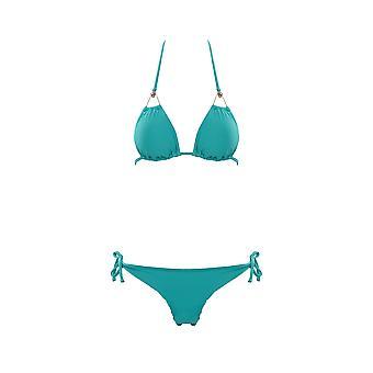Paramidonna Red Eyes Swarovski Light Blue Nylon Bikini