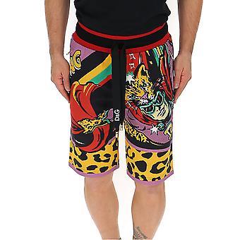 Dolce E Gabbana Multicolor Cotton Shorts