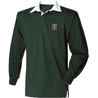 Black Watch - Licensed British Army Embroidered Long Sleeve Rugby Shirt