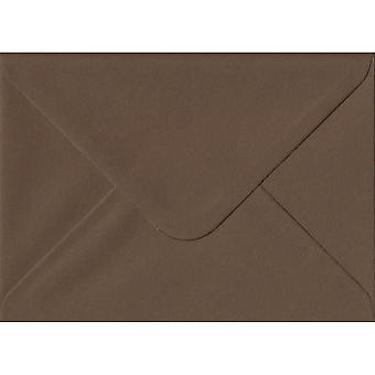 Chocolate Brown Gummed Gift/Place Card Coloured Brown Envelopes. 100gsm GF Smith Colorplan Paper. 70mm x 110mm. Banker Style Envelope.