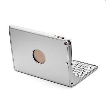 7 colors backlit aluminum alloy wireless bluetooth keyboard case for ipad 9.7 2018