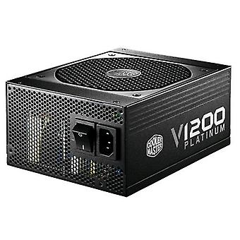 Cooler master v1200 power supply 1200 w shielded modular cables black color