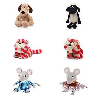 Warmies Licensed Plush Heat Up Microwavable Soft Cuddly Toy With & Lavender Scent, Bagpuss, Shaun The Sheep & Wallace & Gromit