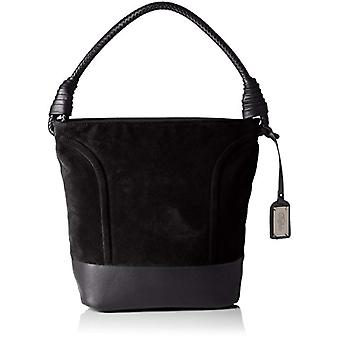 Buffalo Bag W15-089 Imi Suede Pu - Donna Schwarz Bucket Bags (Black 19) 28x32x17 cm (B x H T)