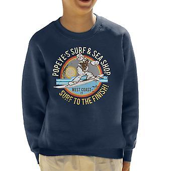 Popeye Surf Sea Shop Kid's Sweatshirt