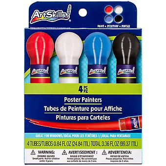 Washable Poster Paint .8oz 4/Pkg-4 Colors PA1297