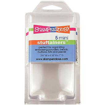 Stampendous Mini Stuftainers 5 Pkg Stor05