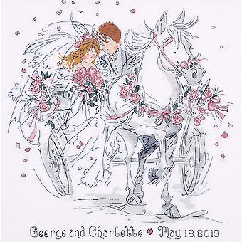 Wedding Carriage Counted Cross Stitch Kit 12