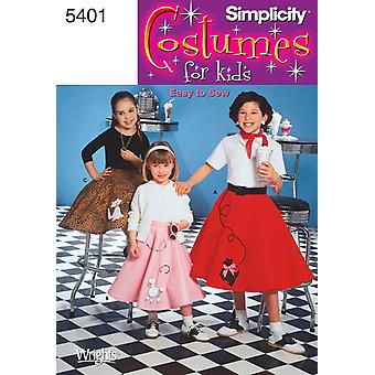 Simplicity Child's And Girls' Poodle Ski 3,4,5,6 U05401hh