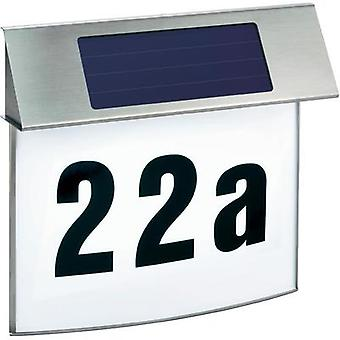 Solar-powered illuminated house numbers Cold white Esotec 102200 Vision Stainless steel