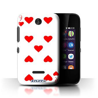 STUFF4 Case/Cover for Nokia Asha 230/9 of Hearts/Playing Cards