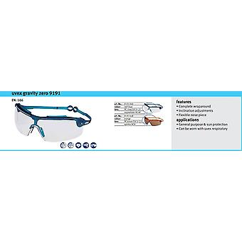 Uvex Gravity Zero Safety Spectacle 9191 Sport Fit Polycarbonate Clear Lens EN166