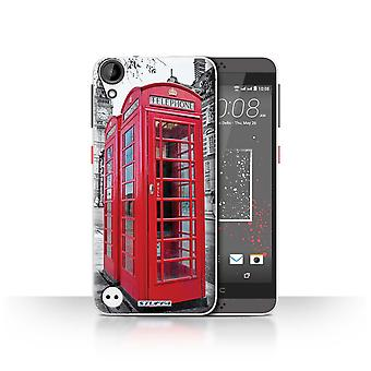STUFF4 Case/Cover for HTC Desire 530/Red Phone Box/London England