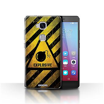 STUFF4 Case/Cover for Huawei Honor 5X/GR5/Explosive/Hazard Warning Signs
