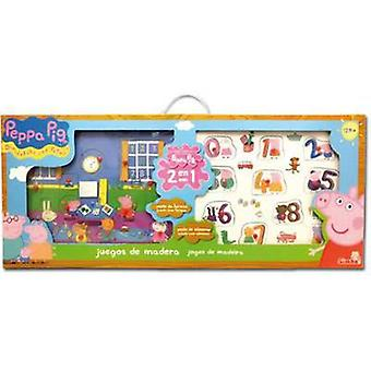 Simba Wood Set Peppa Pig Peppa Pig 5077 (Toys , Preschool , Puzzles And Blocs)