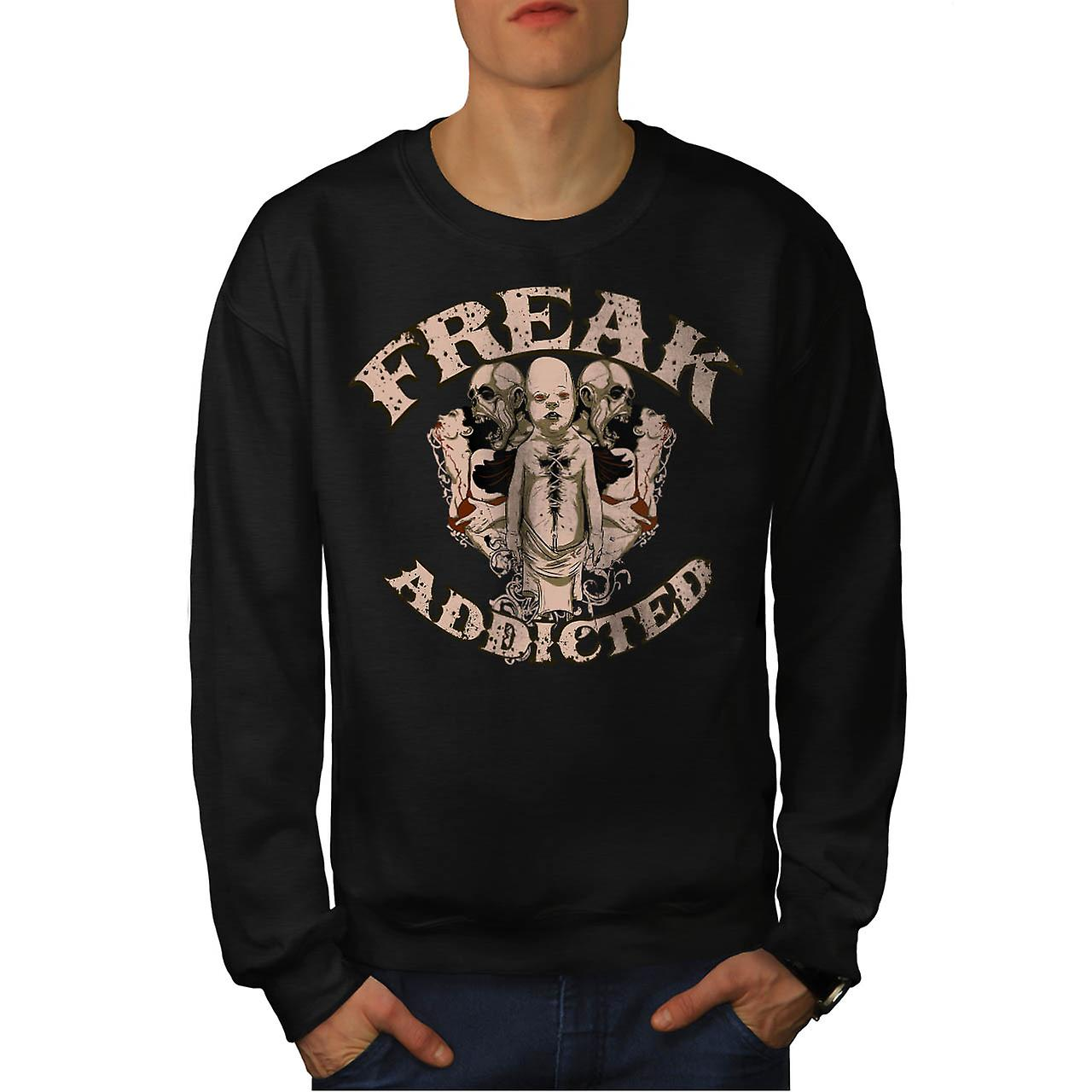 Freak Die Addict Baby Ghost Kids Men Black Sweatshirt | Wellcoda