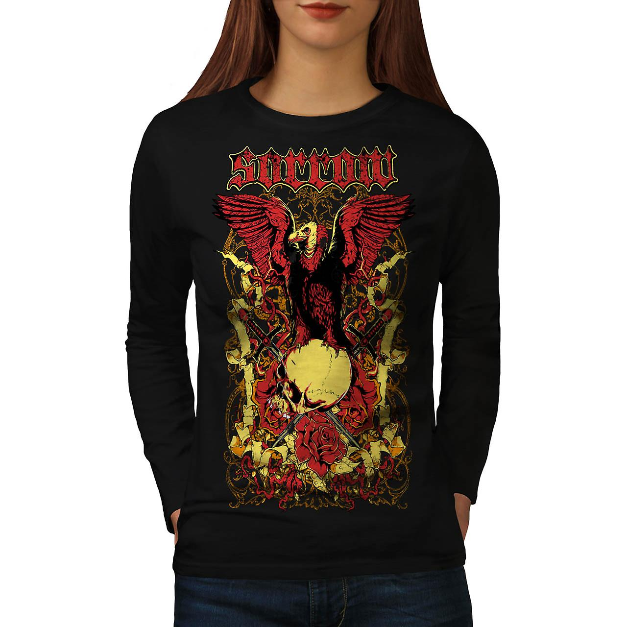 Sorror Death Ground Grave Yard Women Black Long Sleeve T-shirt | Wellcoda
