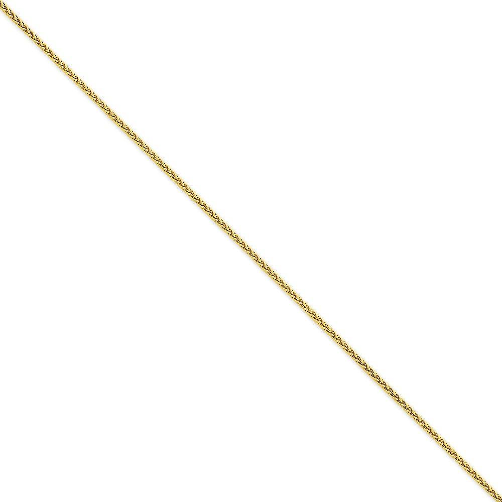 14k jaune or Solid Lobster Claw Closure 1.9mm Round Wheat Chain Necklace - Length  14 to 30