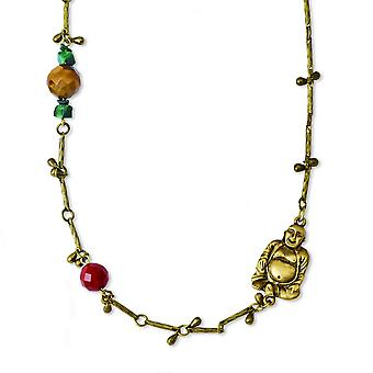 Tru Gold-tone Multicolored Beads 44inch Necklace - 56.1 Grams
