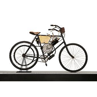 Motocykl z silnikiem de Dion Bouton 1900 Poster Print