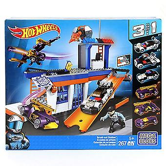 Mega Bloks Hot Wheels Break-Out Station Building Set