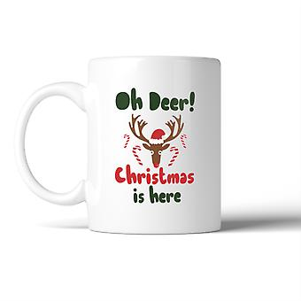 Oh Deer Christmas Is Here Mug Christmas Gift Coffee Mug For Holiday