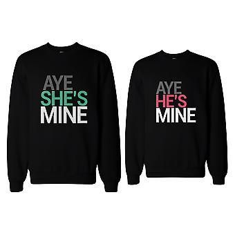 Und ihn ja sie gehört mir, er ist ja Mine passende paar Sweatshirts