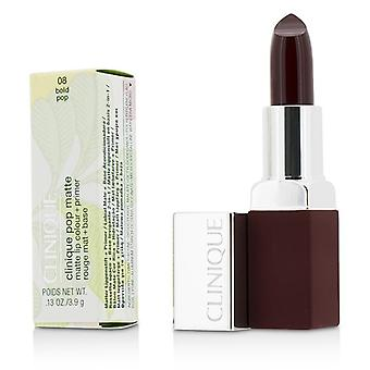 Clinique Pop Matte Lip Colour + Primer - # 08 Bold Pop 3.9g/0.13oz