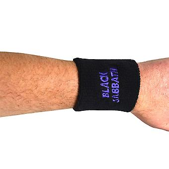 Black Sabbath Wavy Logo Embroidered Wrist Sweatband