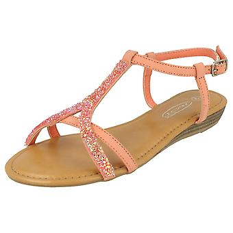 Ladies Spot On Ankle Strap Sandal