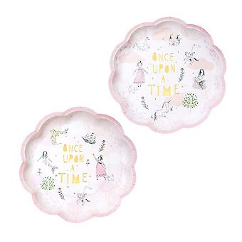 Once Upon A Time Fairytale Paper Plates - Birthday Party x 12
