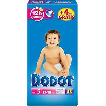 Dodot Diapers Size 5 (13-18 Kg) 54 + 4 Units (Childhood , Diaper and changers , Diapers)