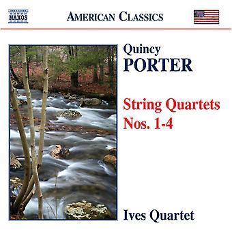 Q. Porter - Quincy Porter: stråkkvartetter nr 1-4 [CD] USA import