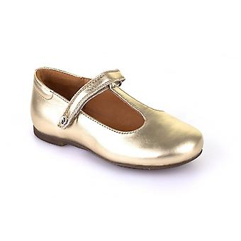 Froddo Froddo Girls Gold Leather T-Bar Shoes | G3140055