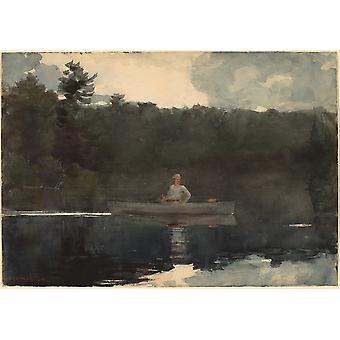 Winslow Homer - The Lone Fisherman Poster Print Giclee