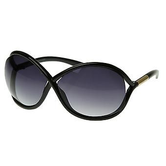 Designer Inspired Womens Fashion Cross Hatch Oversized Sunglasses
