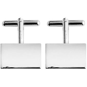 Orton West Silver Plated Rectangular Cufflinks - Silver