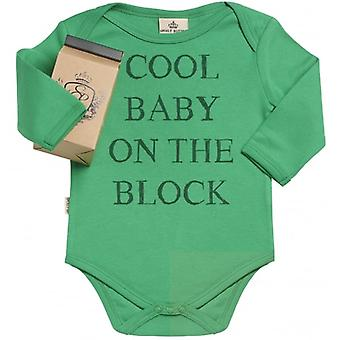 Spoilt Rotten Cool Baby On The Block Babygrow In Milk Carton Gift
