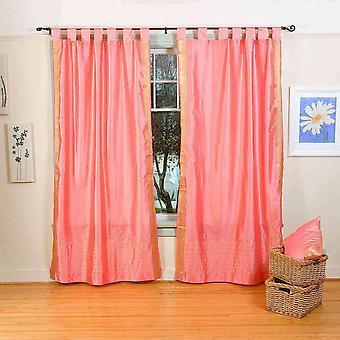 Rosa pestaña superior Sari pura cortina / cortina / Panel - pieza