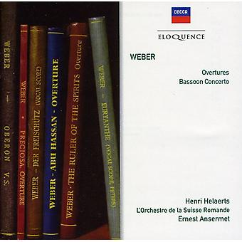 Ernest Ansermet - Weber: Overtures/Basson Cto in F Major [CD] USA import