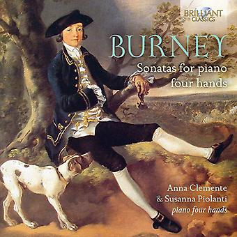 Burney / Clemente, Anna / Piolanti, Suzanna - Burney: Sonatas for Four Hands [CD] USA import