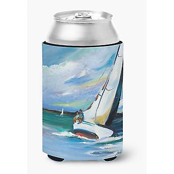 Carolines Treasures  JMK1232CC Two and a Sailboat Can or Bottle Hugger