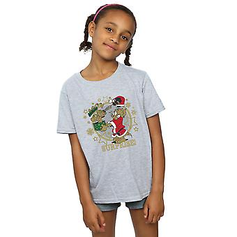 Tom And Jerry Girls Christmas Surprise T-Shirt