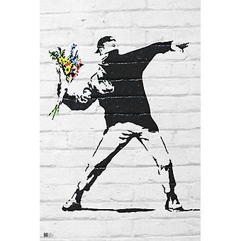 Blume-Bomber-Plakat-Druck von Bansky (24 x 36)