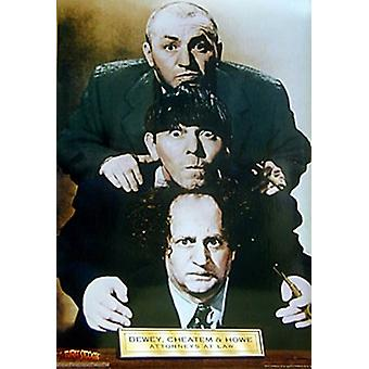 Three Stooges attorneys at law Poster Print (24 x 36)