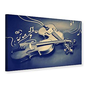 Canvas Print Violins