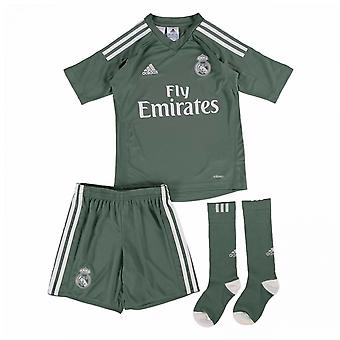 2017-2018 real Madrid Adidas Accueil gardien Mini Kit