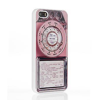 På din sag Iphone 5 / 5S sag - Pink Vintage mønttelefon