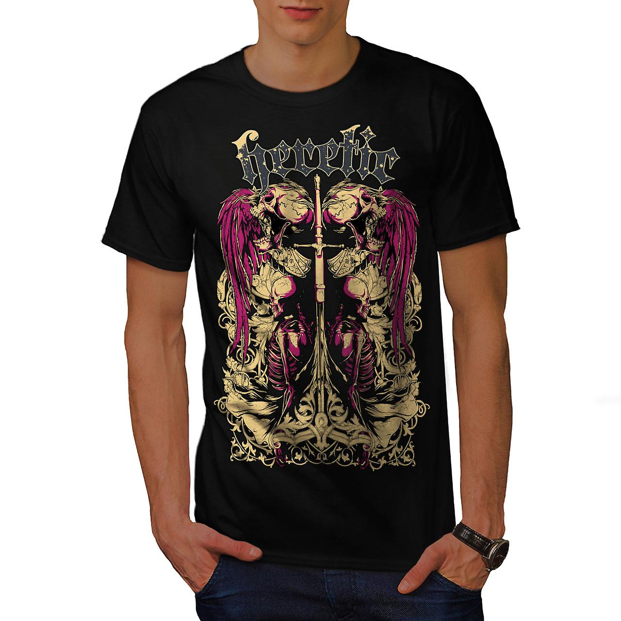 Heretic Dead Angel Men BlackT-shirt | Wellcoda