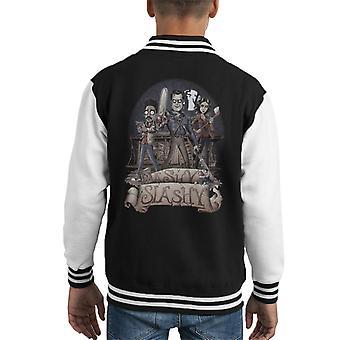 Ashy Slashy Ash Vs Evil Dead Kid's Varsity Jacket